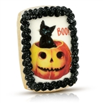 Vintage Iced Cat Boo! Cookie Card