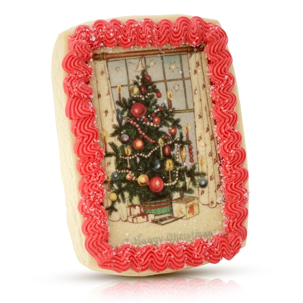 Vintage Plain Christmas Cookie Card