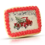 Vintage Plain Santa Christmas Cookie Card