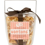 Gourmet Wonton Crunch- 6 oz Clear Take Out Pail