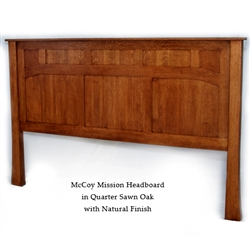Quarter Sawn Oak McCoy Mission Bed