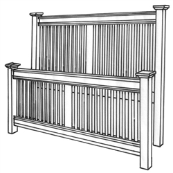 Hickory Northwoods Mission Bed