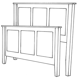 Hickory Shaker Bed