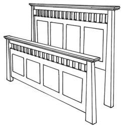Hickory Teton Mission Bed