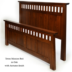 Oak Teton Mission Bed
