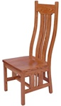 Quarter Sawn Oak Colonial Dining Room Chair, Without Arms