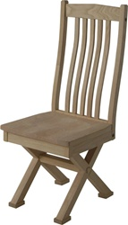 Hickory Crosstie Dining Room Chair, Without Arms