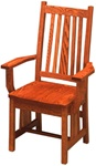 Mixed Wood Eastern Dining Room Chair, With Arms