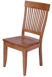 Quarter Sawn Oak Harvest Dining Room Chair, Without Arms