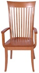 Walnut Lancaster Dining Room Chair, With Arms