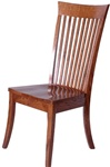 Walnut Lancaster Dining Room Chair, Without Arms