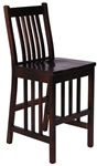 Quarter Sawn Oak Mission Dining Room Barstool, Without Arms