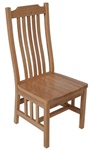 Quarter Sawn Oak Mission Dining Room Chair, With Arms