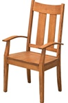 Oak Montrose Dining Room Chair, With Arms