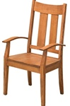 Mixed Wood Railroad Dining Room Chair, Without Arms