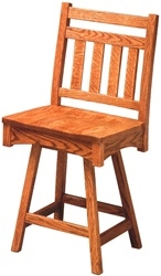 Oak Trestle Dining Room Chair, With Arms