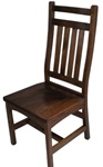 Oak Trestle Dining Room Chair, Without Arms
