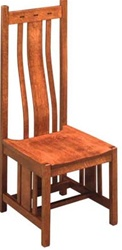 Oak Zen Dining Room Chair, Without Arms