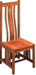 Quarter Sawn Oak Zen Dining Room Chair, Without Arms