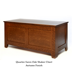 Quarter Sawn Oak Shaker Chest