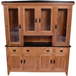 "80"" x 84"" x 20"" Hickory Shaker Hutch (Four Doors)"