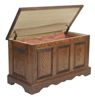 "3 Qty - 42"" x 18"" x 20"" Oak Hope Chests - Autumn Oak - 3  Locks - 50% Deposit"