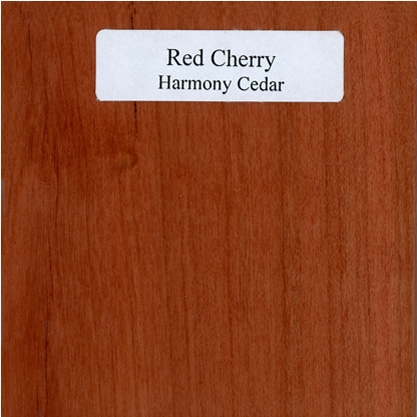 Natural Cherry Red Is Stained