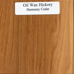 Oil and Wax Hickory Wood Sample