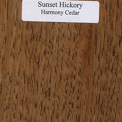Sunset Hickory Wood Samples