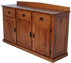 "44"" x 36"" x 20"" Oak Mission Server (Two Doors)"