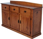 "44"" x 36"" x 20"" Oak Mission Server (Three Doors)"
