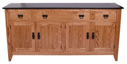 "44"" x 36"" x 20"" Oak Shaker Server (Two Doors)"