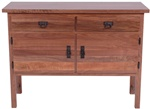 "41"" x 36"" x 19"" Oak Mission Sideboard (stores three 36"" x 12"" leaves)"