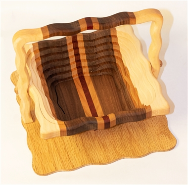 Square basket Mixed Wood