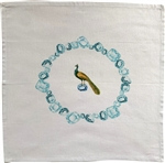Peacock Gems Napkins. Set of 6.