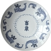 Duet Porcelain Coupe Serving Bowl, Indigo