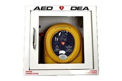 RESCUE 7 SAM PAD BILINGUAL SQUARE AED CABINET