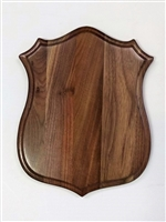 Black Walnut Badge Antler Mount Panel 12x15