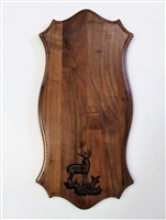 Black Walnut European / Carved Scene Wall Mount