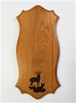 Medium Oak European / Carved Scene Wall Mount