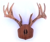 "Black Walnut ""The Deer Stand"" Antler Mounting Kit with Carved Tracks"