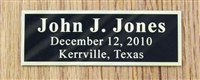 Black Brass Engraved Plate 1x3