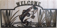 Bass Welcome Sign with Custom Finish