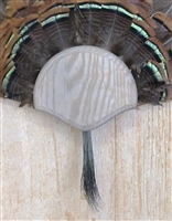 Weathered Wood Turkey Fan Beard Mounting Kit - 01