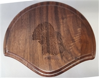 Black Walnut Fan Beard Mounting Kit with Laser Engraving - 01