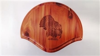 Cedar Turkey Fan Beard Mounting Kit with Laser Engraving - 01