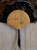 Medium Oak Turkey Fan Beard Mounting Kit with Carved Tracks - 01