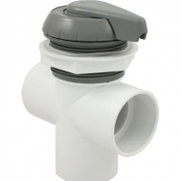 "2"" Notched Top Access Diverter Valve, Gray"