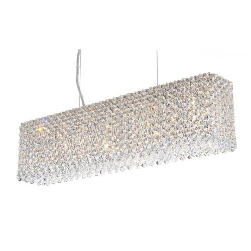 Schonbek Geometrix Re2506 Refrax Strip 7 Light Rectangular Pendant