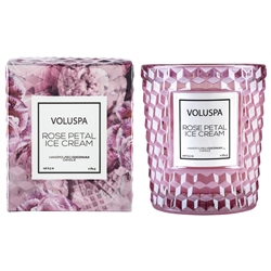 Voluspa Rose Classic Glass Candle